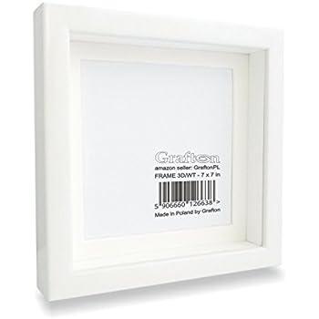 white shadow box frame 3d square deep frame solid wood wall photo display memory box for - White Shadow Box Frame