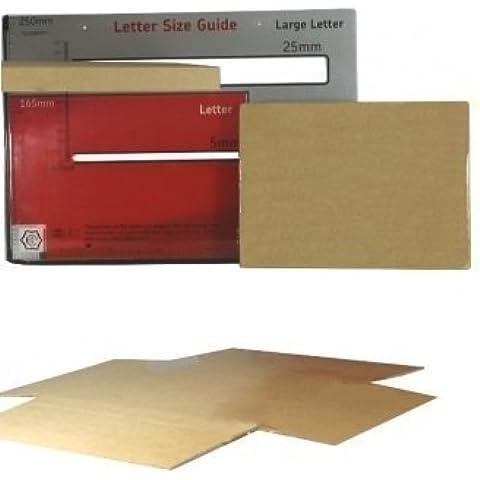20 x Cajas C5/A5 de Ensamblado Rápido de Cartón para Envíos Portales - 218mm x 159mm x 19mm