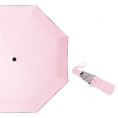 LYJZH Reiseregenschirm - Kompakter windfester Regenschirm - sehr leichtes und faltbares Design Einfacher zusammenklappbarer Regenschirm aus schwarzem Kunststoff color5 100cm