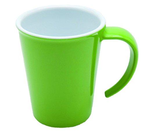 00 ml grün | hochwertiger, stabiler Kaffeebecher aus Kunststoff mit Henkel | robustes Alltags-Geschirr für Zuhause, Büro, Camping, Picknick, Gemeinschaftsverpflegung, Großküchen, Institutionen  | Kaffeetasse, Mehrweg-Becher (Kunststoff-becher Mit Henkel)