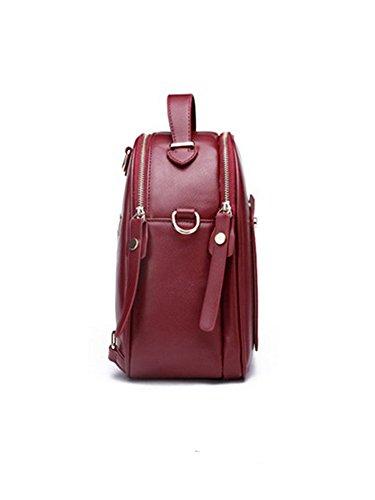 Molly Donne Stile Di Gusto Squisito Solido Colori Mini Zaino Rosso