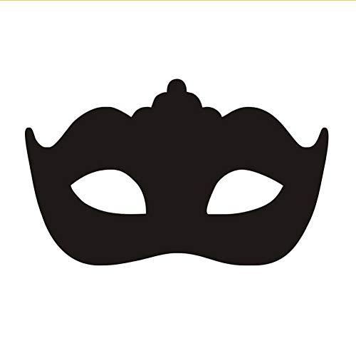 xlei Wandaufkleber Moderne Maskerade Maske Wandaufkleber Kopfteil Dekorative Schwarz Vinyl Selbstklebende Kunst Tapete Schlafzimmer Wand Decal95X58Cm (Tier Maskerade Masken)