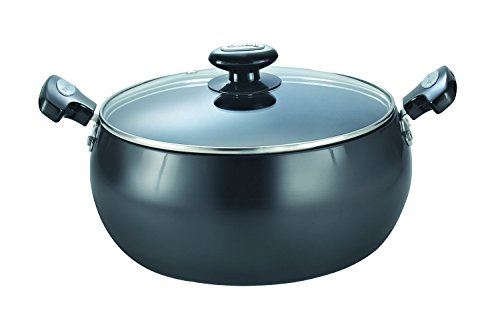 Prestige Hard Anodised Cookware Lifetime Induction Base Sauce Pan, 200mm, Black