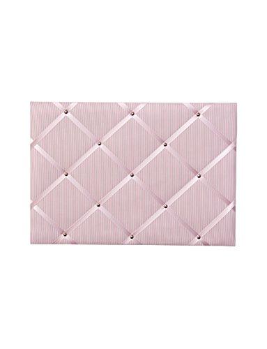 paula & ferdinand Memoboard Vichystreifen rosa, Satinband rosa, Format 45x65 cm