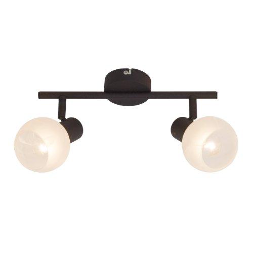 Brilliant Gabon 12913/20 - Lámpara de techo (2 focos E14, máximo 40...