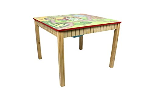 Fantasy Fields - Happy Farm themed Hand Crafted Kids Wooden Table (Chair Sold Seperately)  Hand Crafted & Hand Painted Details   Child Friendly Water-based Paint