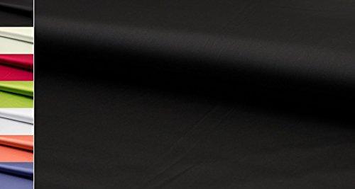 StoffBook STRETCHSATIN -SEIDIGER GRIFF- STRETCH SATIN STOFF STOFFE METERWARE, D400 (Schwarz)