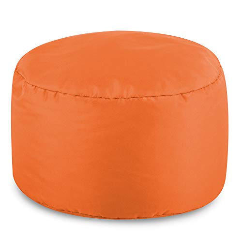 Reposapiés Redondo para puf de Bean Bag Bazaar para interiores/exteriores – color naranja