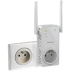 Netgear EX6130-100FRS Répéteur Wifi (Amplificateur Wifi) Double Bande AC1200, Transformez les Zones Mortes en Zones Couvertes, avec Prise de Courant Intégrée