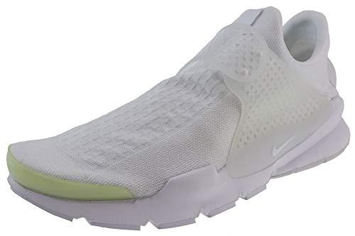 Nike, Sock Dart, Herren-Laufschuhe, - White/White-white-black - Größe: 46 EU (M) -