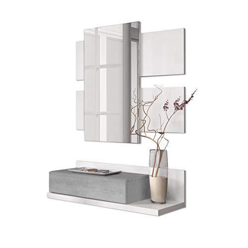 Habitdesign 0L6742A - Recibidor cajón + Espejo, Mueble