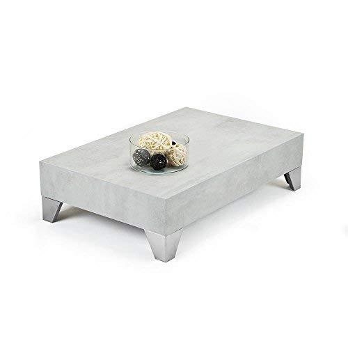 Mobili Fiver Evolution 90 Tavolino da Salotto, Legno, Cemento, 90x60x24 cm