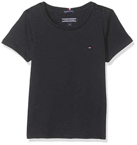 TOMMY HILFIGER Girls Basic Cn Knit S/s Camiseta, Azul (Sky Captain 420), Talla única (Talla del Fabricante: 74) para Niñas