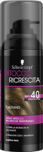 Schwarzkopf Ritocco Ricrescita Spray Temporaneo per la Ricrescita dei Capelli Castano 120ml
