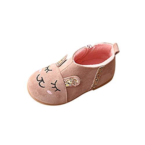 MCYs Kinder Kid Baby Mädchen Winter Warm Kaninchen Kristall Cartoon Kurze Stiefel Schuhe Winterschuhe Boots