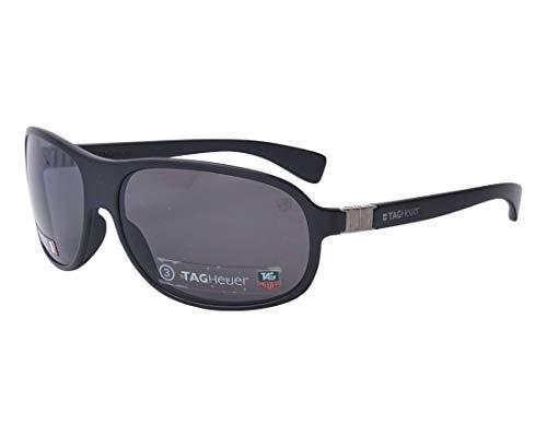 TAG Heuer Sonnenbrillen Legend (TH-9301 101) matt schwarz - grau mit verspiegelt effekt