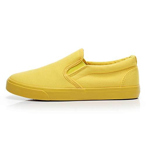 Frauen Breathable Sneaker Flats Schuhe FrüHling Herbst Slip On Netzwerk Sohle Stoff Flach Damen Casual Segeltuchschuhe