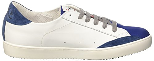 Fake By Chiodo Low 052, Basses Mixte Adulte Bianco (Sidney Soft White/Crosta Bluette)