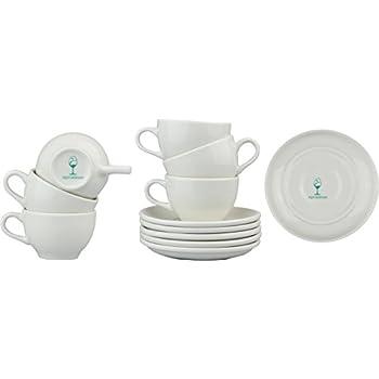 Argon Tableware White Cappuccino Cup / Saucer Set - 320ml (11oz) - Box of 6