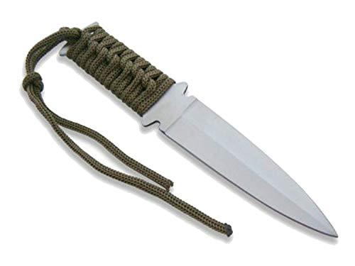KOSxBO® Fahrtenmesser Survival Messer mit Etui - Tarnfarbe grün - tactical Knife - SOLDIER EDITION