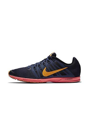Nike air zoom speed racer 6, scarpe da running unisex-adulto, blu nerastro/arancione/nero (blackened blue/orange peel/black 400), 43 eu