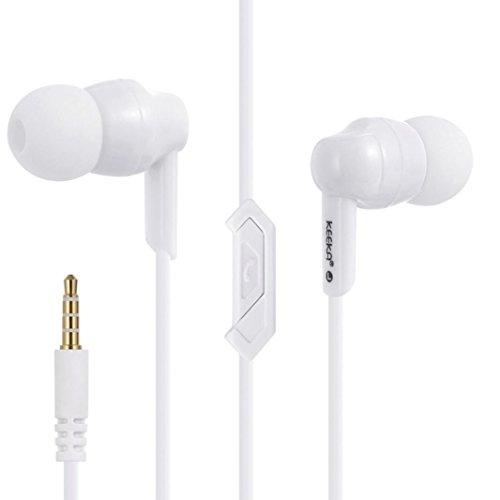 Transer® EE-42 Mode Beweglicher Sport-Musik-Stereo-Kopfhörer Für Handy/Computer +Schnecken Kopfhörer-Box Earbuds Headsets Ohrhörer Kabellänge: 1.2 M (Weiß) (Human Beat Box)