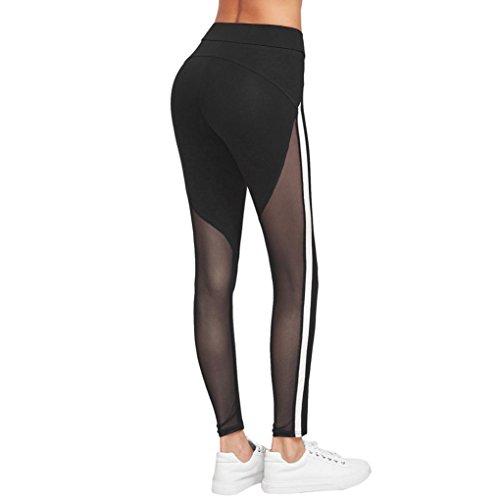 Yoga Hosen Damen Mädchen Yoga Leggings Hose Btruely Hohe Taille Sporthosen Yoga Workout Gym Pants Yoga Leggings Fitness Übung Ausbildung Hose (M, Schwarz 5) - 4