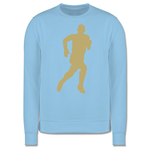 Laufsport - Laufen - Herren Premium Pullover Hellblau