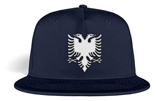 Albanien Mütze albanisch Adler Cap Kosovo Albania - Kappe -Einheitsgröße-Oxford Navy