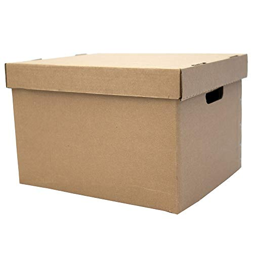 EASYBOX Record/File Storage Box - 16.50 X 14.2 X 11.25in - 5 Boxes - Basic Assembly Required