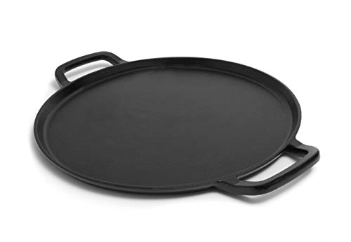 Guro Seasoned Pizza-Backform aus Gusseisen 14 Inch schwarz Seasoned Cast Iron Pizza Pan