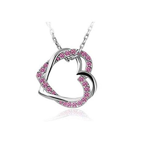 leading-star-charming-plated-2-heart-pendant-necklace