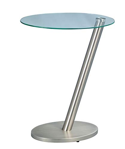 HomeTrends4You 528388 Table d'appoint, 40 x 48 x 30 cm, métal Imitation Acier Inoxydable
