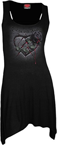 Spiral – Women – RESTING WITH ANGELS – Goth Bottom Camisole Dress Black – Medium