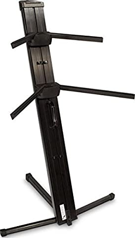 Ultimate Support Apex Series Two-tier Portable Column Keyboard Stand - Black