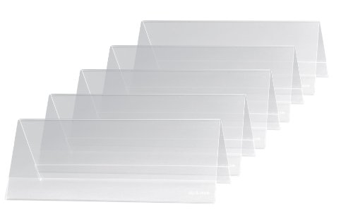 Sigel TA130 Soporte de sobremesa, forma de tejado, Plástico duro, para 240x90 mm, 5 unds.