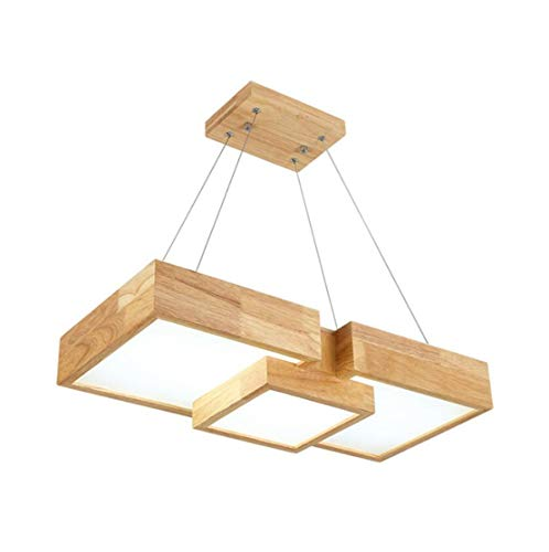 Pendelleuchte Esstisch Holz Japanischen Esstischlampe Mit Led Hängeleuchte Holzlampe Küchen Hängend Lampe Hängelampe Pendellampe Vintage Kücheninsel Leuchte Nordic Gewinde Lange 120CM (Warmes Licht)
