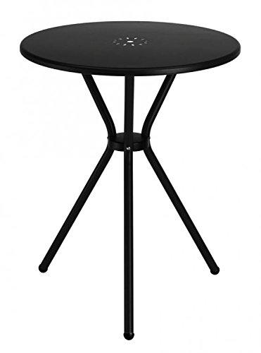 Tisch Aus Blech Anthrazit Durchmesser 60, Tisch Rund Gartentisch  Klassischer Stil, Tisch Aus Eisen
