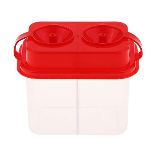 Homyl Portable Multi-Purpose Paint Brush Washer Cleaner Lidded Cups Square Container Holder - Double Lattice - Ideal for Kids Beginner Outdoor Painting Tool