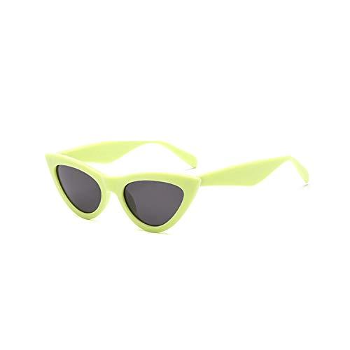 FGRYGF-eyewear2 Sport-Sonnenbrillen, Vintage Sonnenbrillen, NEW Cute Sexy Retro Cat Eye Sunglasses Women Black White Triangle Vintage Sun Glasses For Male Female UV400 green