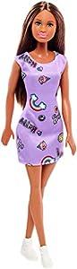 Barbie Fashionista, Muñeca Chic vestido lila, juguete +7 años (Mattel FJF15)