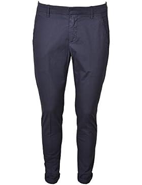 DONDUP Pantalone Uomo Gaubert Blu Tasca Diagonale Elasticizzati UP235PS005U897