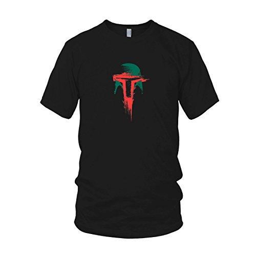 T Boba Fett Shirt Kostüm - Boba Splash - Herren T-Shirt, Größe: XL, Farbe: schwarz