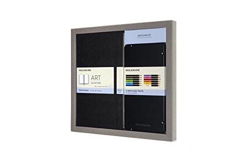 Moleskine Aquarell Skizzenbuch-Set (Large/A5, Hard Cover, aquarellstifte) schwarz (Moleskine Notebook-design)