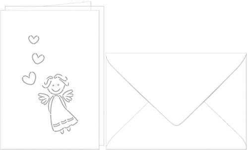 Set carte de voeux « « « Ange gardien » B0749K4WW3 c077c7