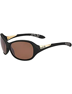 Bollé Grace–Gafas de sol para mujer, Grace, Matte Black Polarized Sandstone Gun Oleo AF, medium