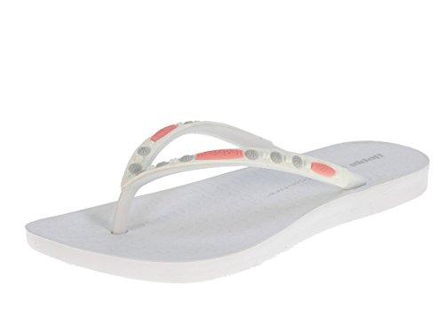 Beppi Damen Zehentrenner Sommerschuhe Badelatschen Weiß