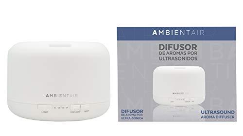 Ambientair Difusor de ultrasonidos, Vapor frío DU001AA-Humidificador Ultrasónico Redondo, Humidificadores...