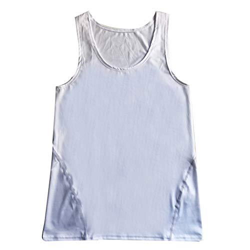 LSAltd Sommer Männer Freizeit Einfarbig Sleeveless Slim Sport Work Out Fitness Weste T-Shirts Tops