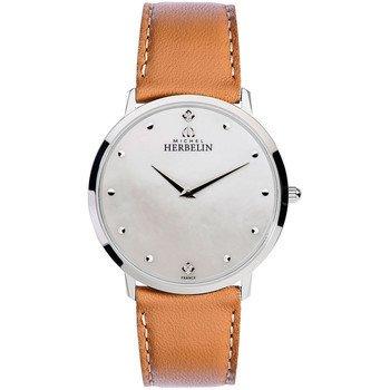 Reloj De Hombre–Michel Herbelin–Banda de cuero–17415–/59GO